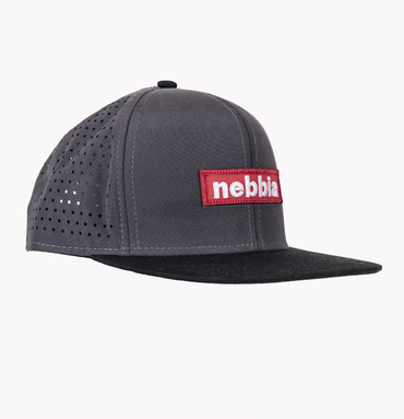 Nebbia Kšiltovka 163 Snap Back Red Label Šedá
