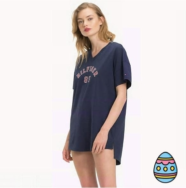 Tommy Hilfiger Nightdress College Navy, S