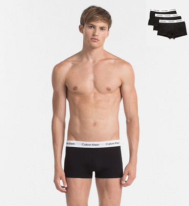 Calvin Klein 3Pack Boxerky Black LR