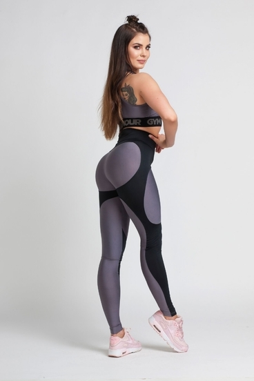 Gym Glamour Legíny By Julia Black And Grey