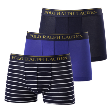 Ralph Lauren 3Pack Boxerky Blue