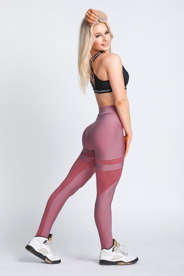 Gym Glamour Legíny Dirty Pink Mesh
