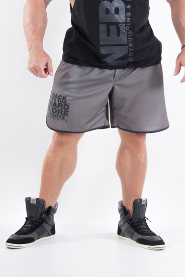 Nebbia Pánské Hardcore Fitness Šortky 302 Khaki