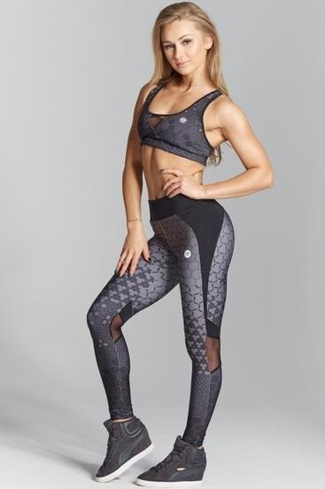 Gym Glamour Legíny Dark Honey Combs