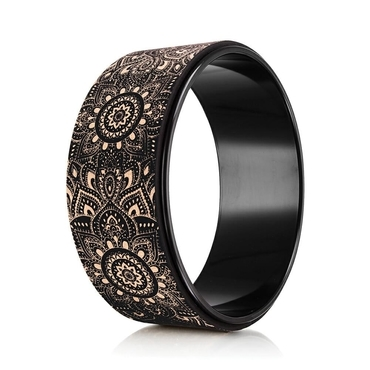 Yoga Design Lab Cork Yoga Wheel - Mandala Black