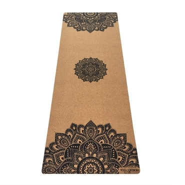 Yoga Design Lab 3.5mm Cork Yoga Mat - Mandala Black