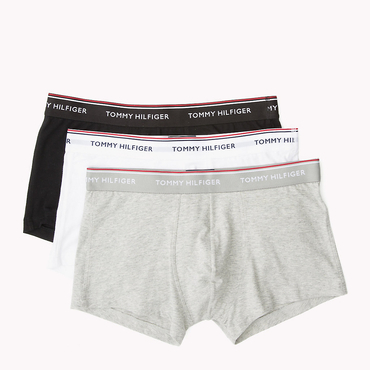 Tommy Hilfiger 3Pack Boxerky Black, Grey&White