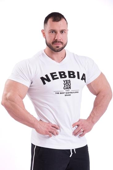 Nebbia Tričko 396 Pánské Hardcore Bílé