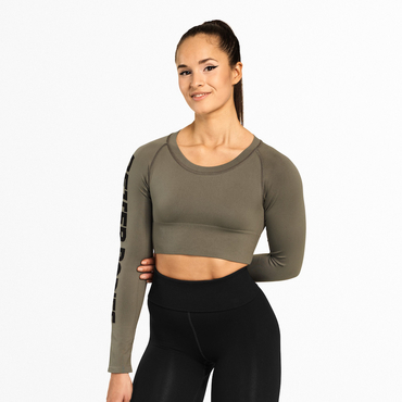Better Bodies Crop-top Bowery Washed Green