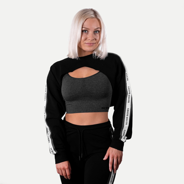 Better Bodies Crop Mikina Chrystie Black