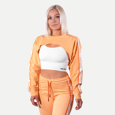 Better Bodies Crop Mikina Chrystie Light Orange