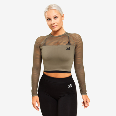 Better Bodies Crop-top Bronx Long Sleeve Washed