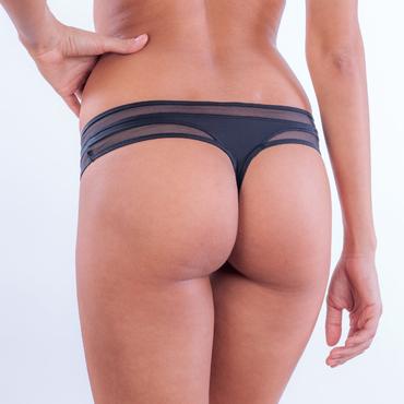 Calvin Klein Tanga Naked Touch Černé