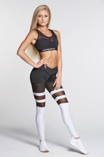Legíny Gym Glamour Mesh And White Socks