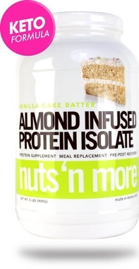 Nuts´n More Protein Isolate Almond Infused Vanilla Cake Batter