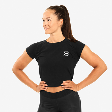 Better Bodies Crop-top Chelsea Tee Black