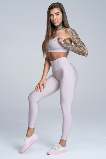 Gym Glamour Legíny High Waist Broken White