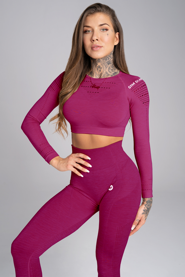 Gym Glamour Crop-Top Jelly Berry