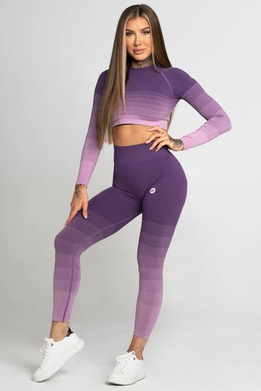 Gym Glamour Legíny Bezešvé Violet Ombre