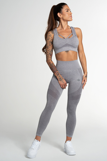 Gym Glamour Legíny Bezešvé Fusion Light Grey