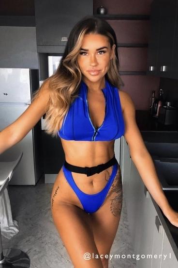 Hugz Plavky Tokyo Buckle-Zip Bikini Blue