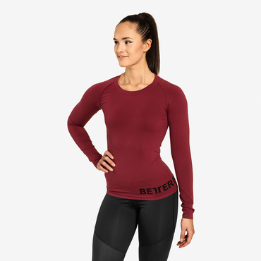 Better Bodies Tričko Nolita Seamless Long Sleeve Sangria Red