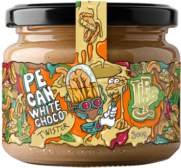 LifeLike Pecan White Choco Twister - 300g