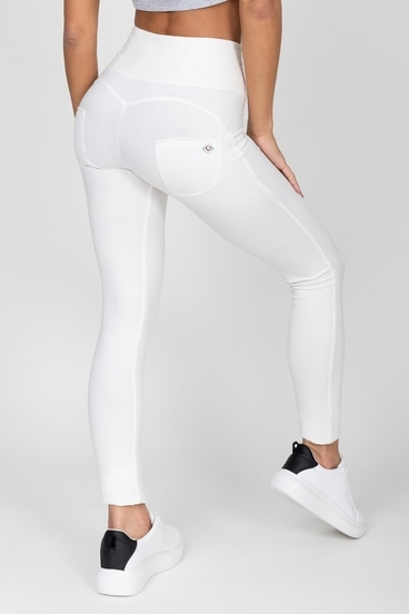 Hugz White High Waist Jegging