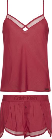 Calvin Klein Dámské Pyžamo Set Bordo
