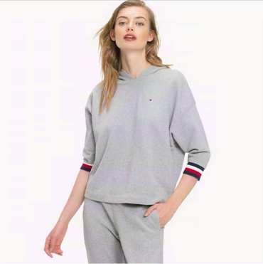 Tommy Hilfiger Mikina Longer Length Grey