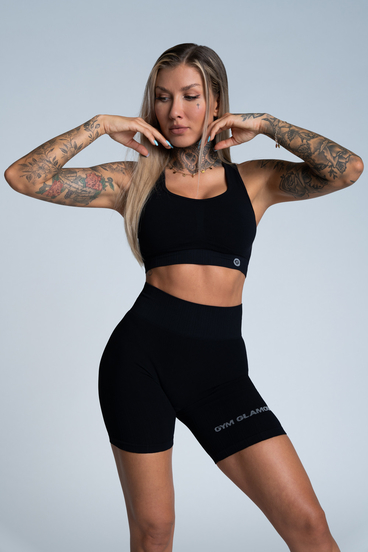 Gym Glamour Podprsenka Push Up Deep Black