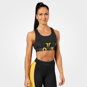 Better Bodies Podprsenka Bowery Sports Black/Yellow