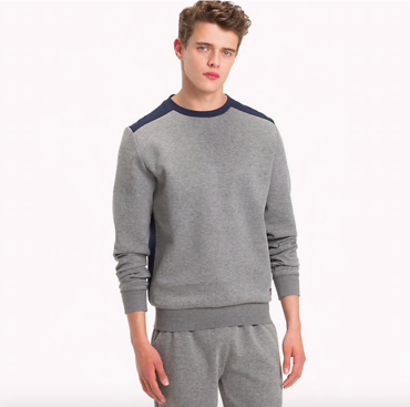Tommy Hilfiger Mikina Colour Blocked Grey
