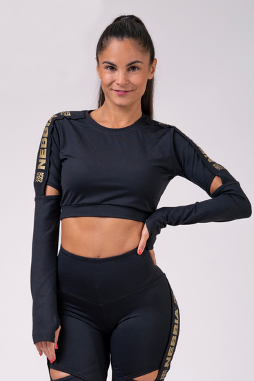 Nebbia Crop-Top 821 Honey Bunny