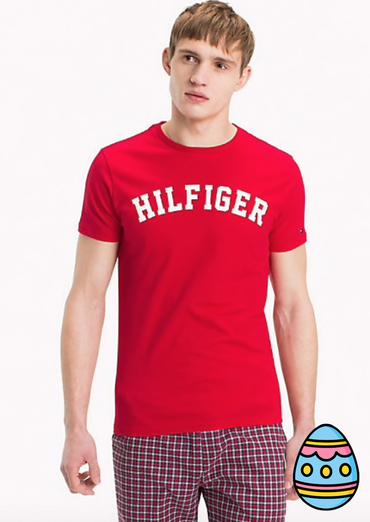 Tommy Hilfiger Pánské Tričko Iconic Red, L