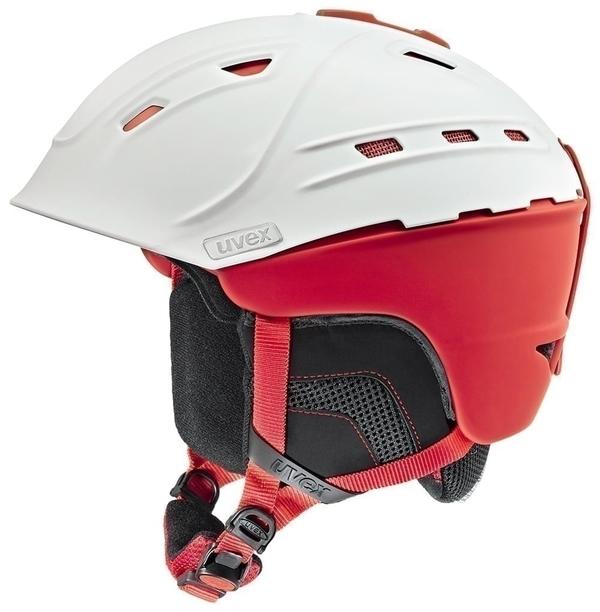 helma UVEX P2US, white-red mat (S566178130*)