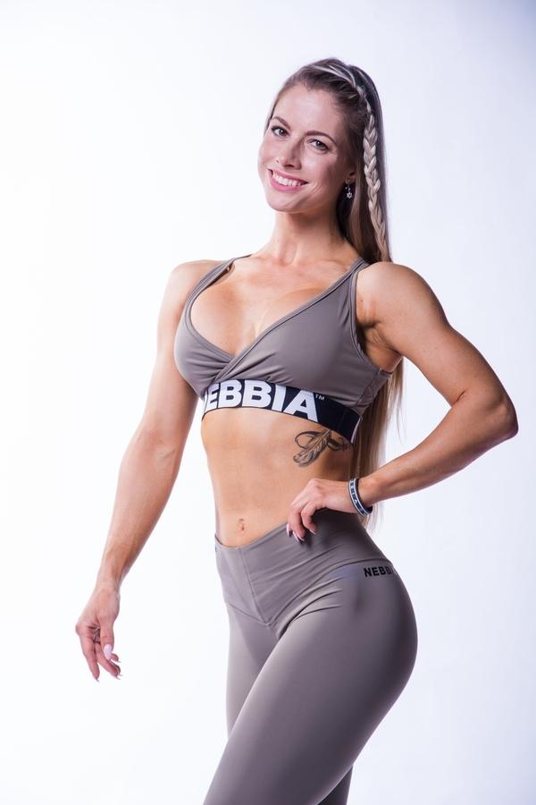 Nebbia 620 Open Back Bra Mocha - 1