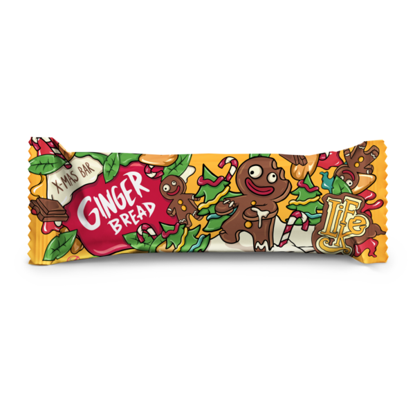 LifeLike X-mass Bar Ginger Bread - 50g