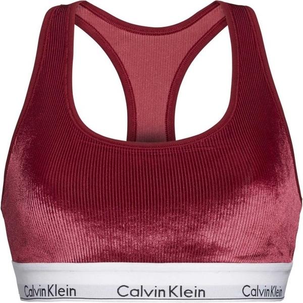 Calvin Klein Unlined Bralette Podprsenka Bordo, M