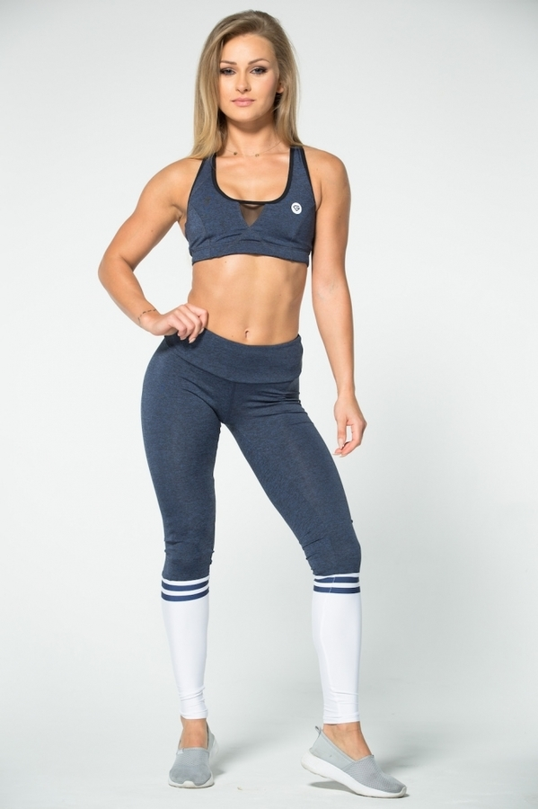 Gym Glamour Legíny Blue Melange & Socks - 1