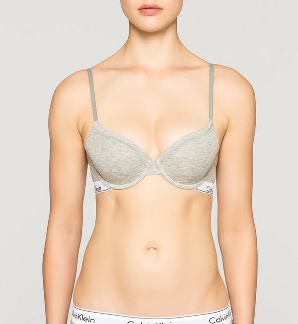 Calvin Klein Podprsenka Modern Cotton T-Shirt Šedá, 32B - 1