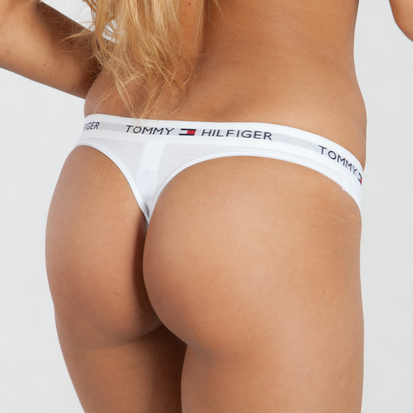 Tommy Hilfiger Tanga Cotton Iconic Bílé, L - 1