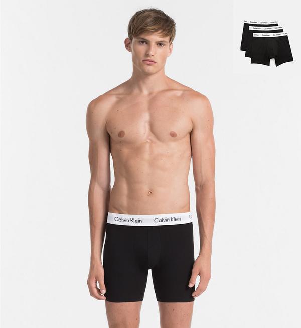 Calvin Klein 3Pack Boxerky Dlouhé Black, M - 1