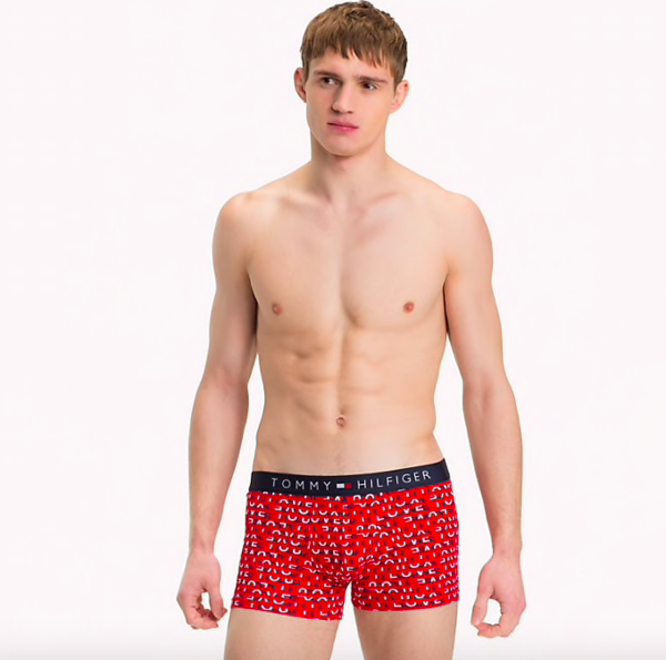 Tommy Hilfiger Boxerky Micro Love Red, M - 1