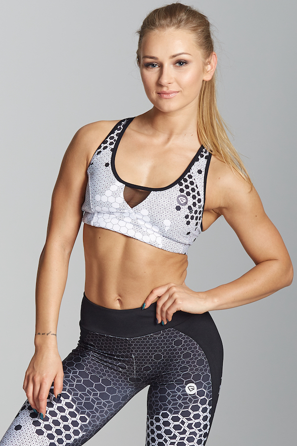 Gym Glamour Podprsenka White Honey Combs, XS - 1