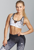 Gym Glamour Podprsenka White Honey Combs, XS - 1/7