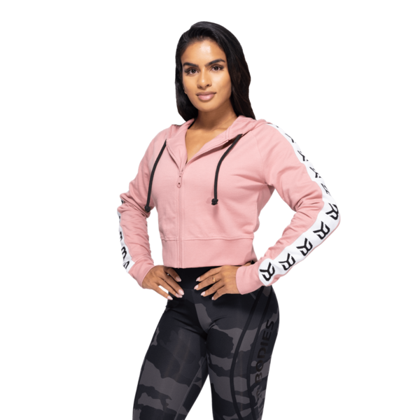 Better Bodies Crop Mikina Vesey Heather Pink, L - 1