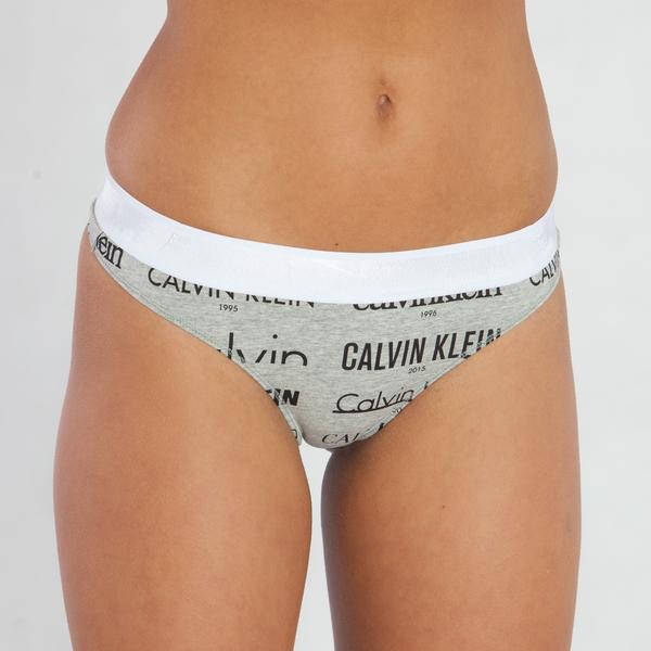 Calvin Klein Tanga Heritage Šedé - 1