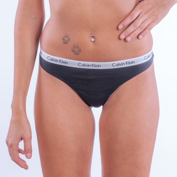 Calvin Klein 3Pack Thong Black, M - 1
