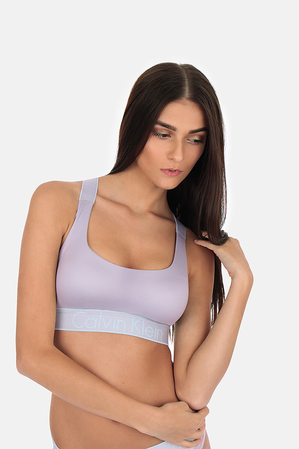 Calvin Klein Podprsenka Bralette Lightly Lined Neutral Grey, M - 1